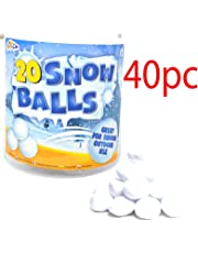 BARGAINS-GALORE 40PC CHRISTMAS FAKE SNOWBALLS XMAS SNOW BALL FIGHT PLUSH THROWING GIFT SET