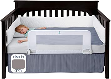 new product ac956 2459b hiccapop Convertible Crib Toddler Bed Rail Guard with Reinforced Anchor  Safety