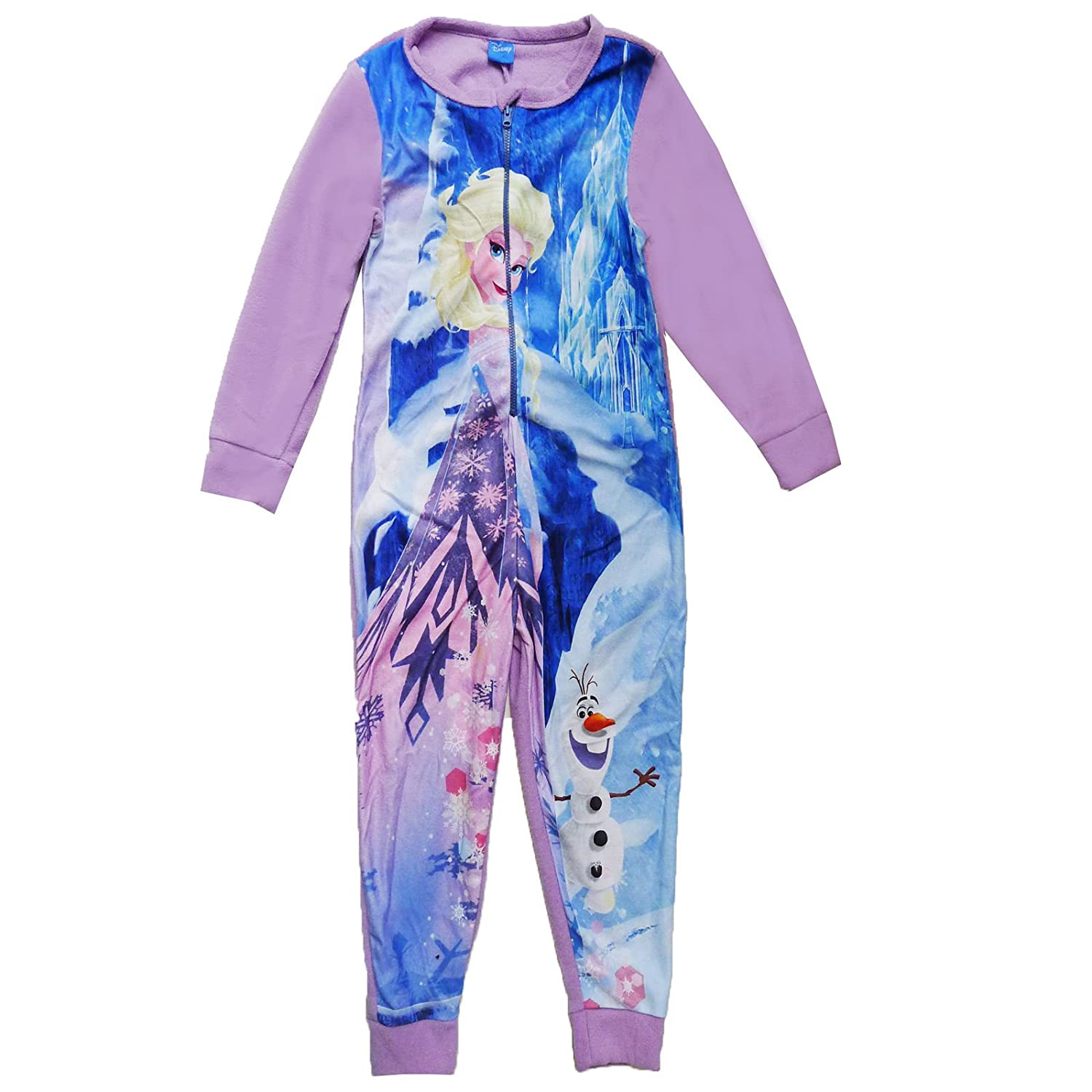 Disney Frozen Girls Fever New Childrens Elsa Olaf All In One Suit Pyjamas World Book Week Official Licensed