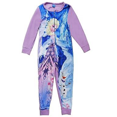 e6ee39d21 Disney Frozen Childrens Elsa   Olaf Onesie - 2-3 Years Purple ...