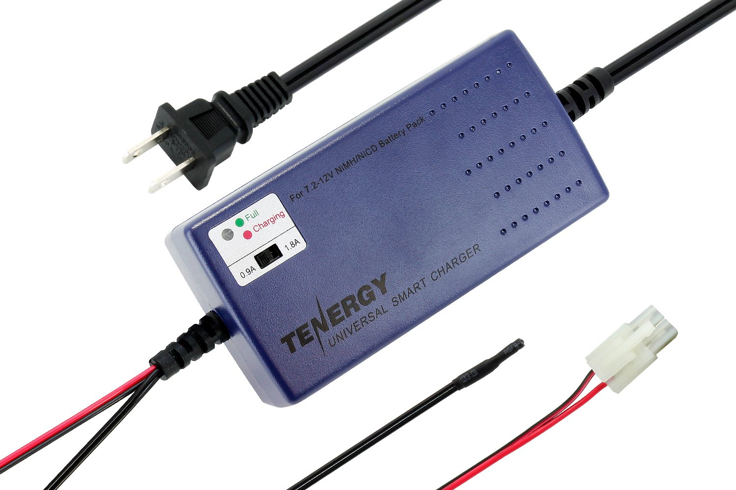 Tenergy Smart Universal Charger For Nimh Nicd Battery Cad With Little Parts Electronic Projects Circuits Pack 72v 12v Charging Current Selection Temperature Sensor Home Improvement