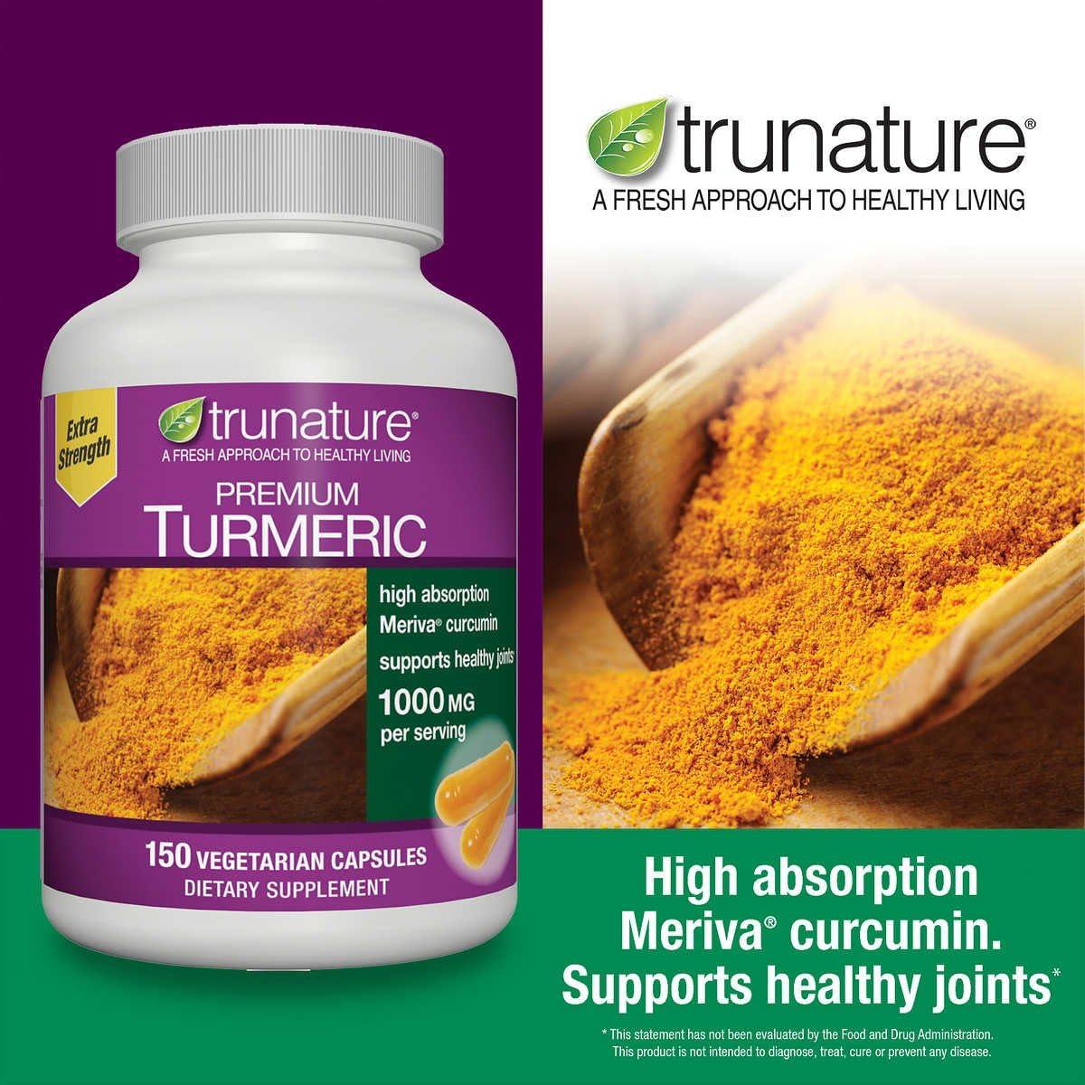 trunature Premium Turmeric 1000 mg, 150 Vegetarian Capsules 150 Capsules
