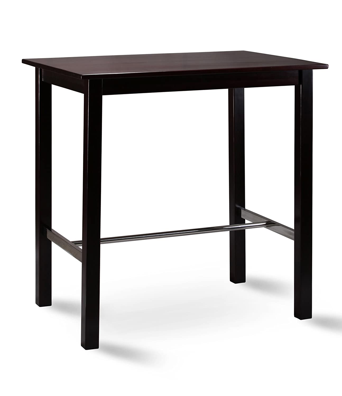 Table de bar bistro table pin massif - Couleur wengé 75x105 - BT-105-114