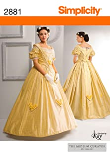 Amazoncom 1860s Evening Dress Pattern Large 18 22 Arts
