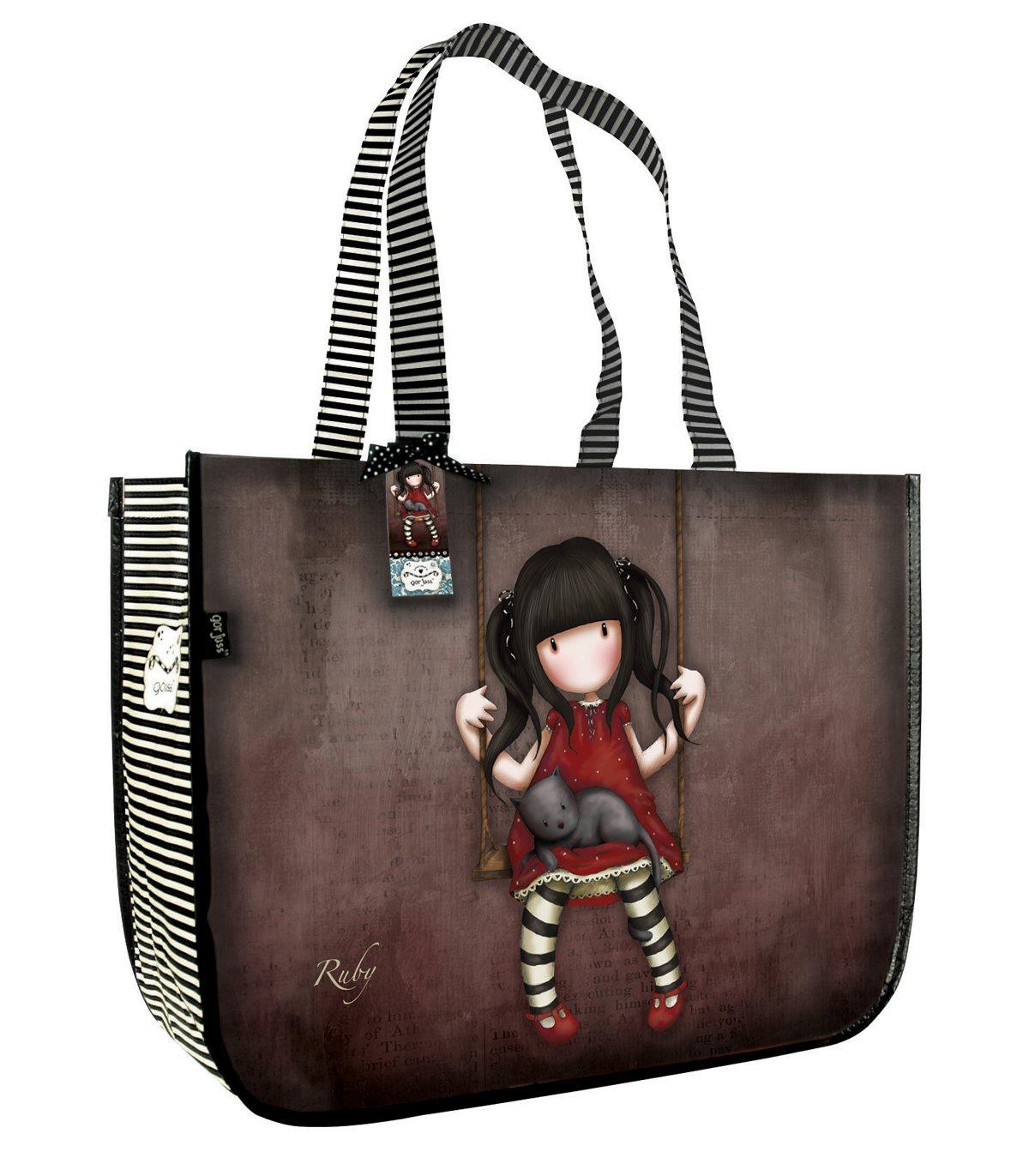 Amazon.com: Santoro Gorjuss Shopper bolsa bolso, Ruby ...