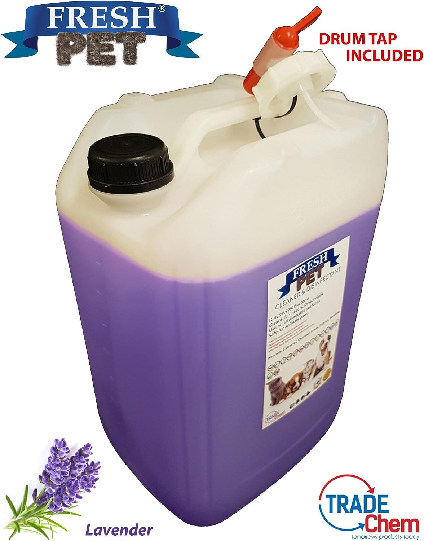 Limpiador desinfectante Fresh Pet apto para mascotas, 20 L (lavanda).