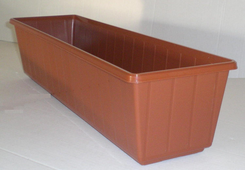 Flair plastic jardinière en plastique couleur terre cuite 80 cm