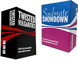 Twisted Party Games Bundle (One Card Game for Your Nice Friends and One Card Game for Your Twisted Friends)
