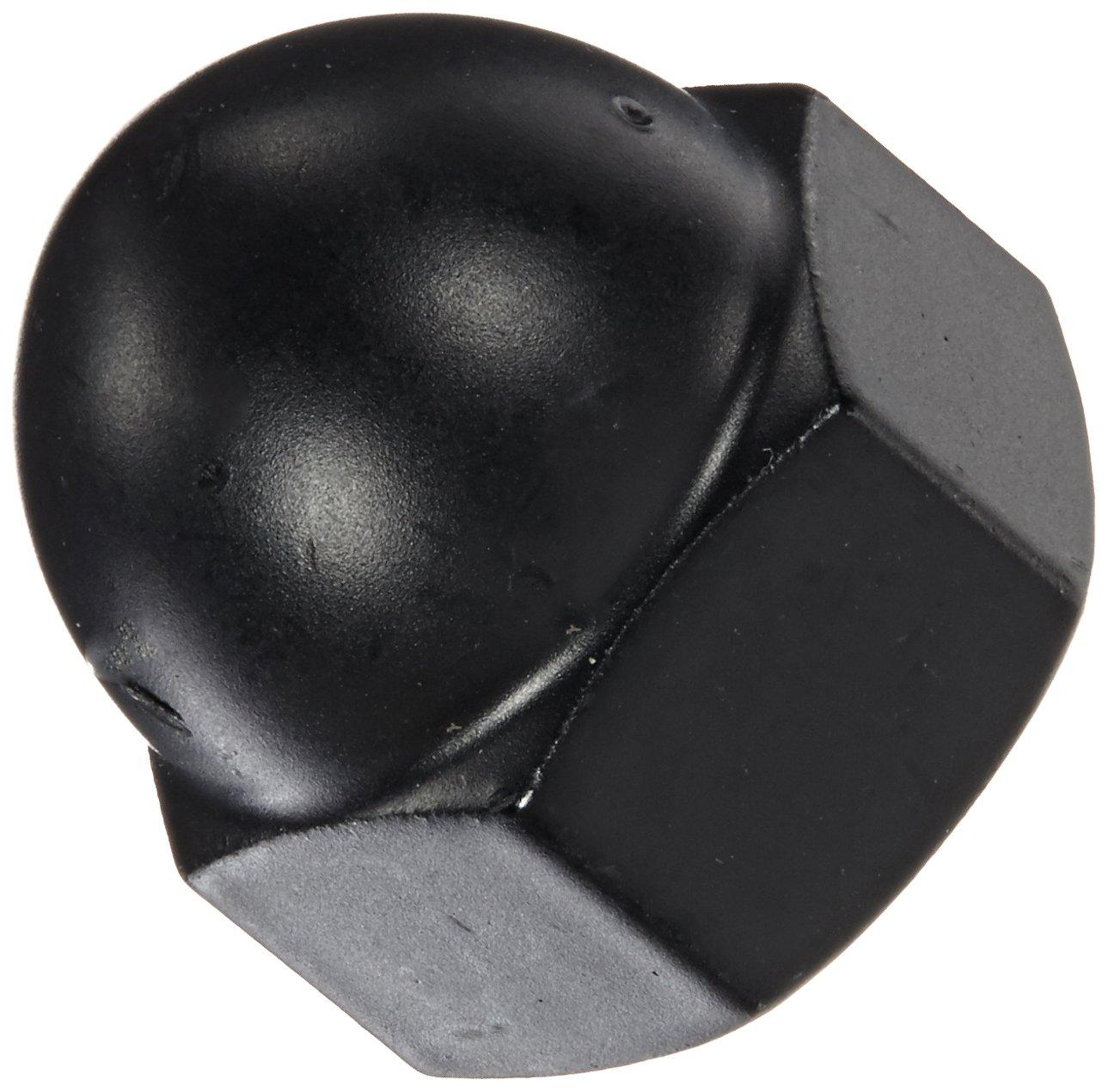 Pack of 5 Black Powder-Coated Steel Acorn Nut 5//16-18 Thread Size 1//2 Width Across Flats 17//32 Height USA Made 5//16 Minimum Thread Depth