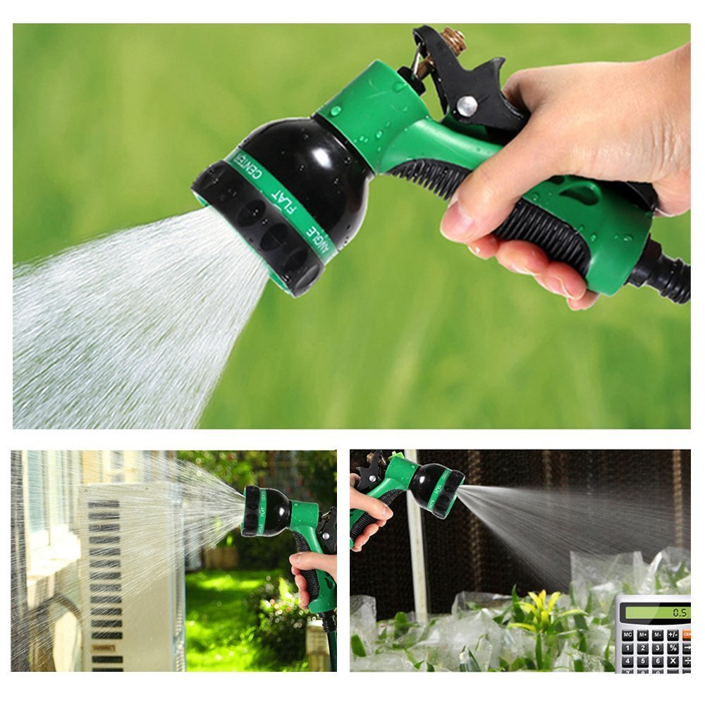 Elvoes Garden Hose Nozzle, Heavy Duty 8 Pattern Adjustable Watering Nozzle, High Pressure Hand Sprayer for Watering Plants, Car Wash, Pets Showering