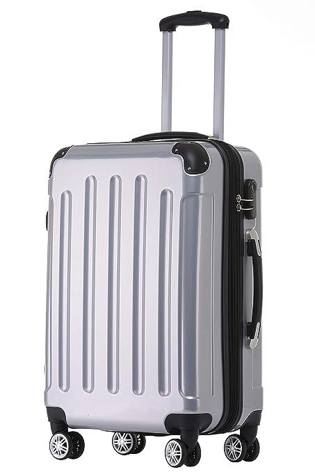 Beibye 2048 – Juego de maletas de viaje rígidas con ruedas, tamaños M-L-XL