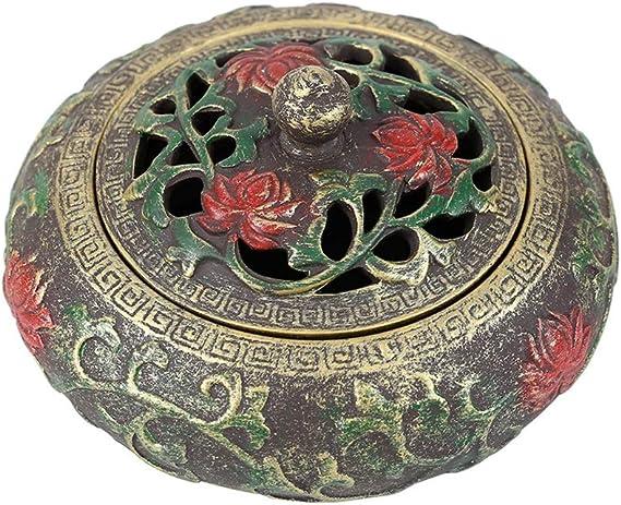 芳香器・アロマバーナー 香炉陶器アンティークサンダルウッドトレイ香炉茶道屋内香炉スリープエイド磁器香ラック アロマバーナー芳香器 (Color : A)