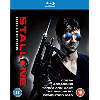 Stallone: The Complete 5 Movies Collection - Cobra + Assassins + Tango and Cash + The Specialist + Demolition Man (5-Disc Box Set) (Slipcase Packaging + Region Free + Fully Packaged Import)