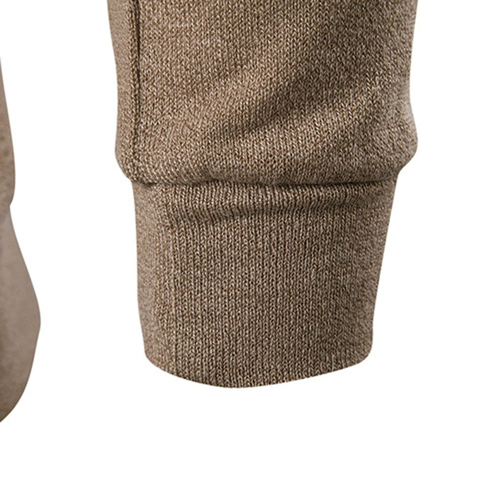 GNYD Manica Lunga Cappotto da Uomo Elegante in Maglione Lavorato A Maglia A Maniche Lunghe con Scollo A V E Bottoni in Autunno Inverno Invernale Caldo Vestito