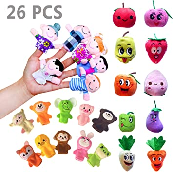 365730d9cec Amazon.com   Sealive 26 Pcs Finger Puppets for Toddlers Kids Adults ...