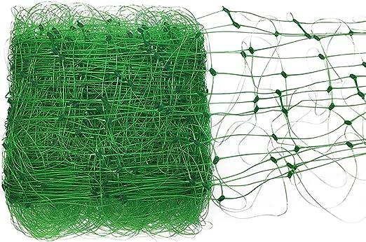 JYCRA - Malla de Soporte para Plantas, Enrejado de plástico para Plantas trepadoras y Jardines, Malla antipájaros, Reutilizable, para protección de Vegetales: Amazon.es: Jardín
