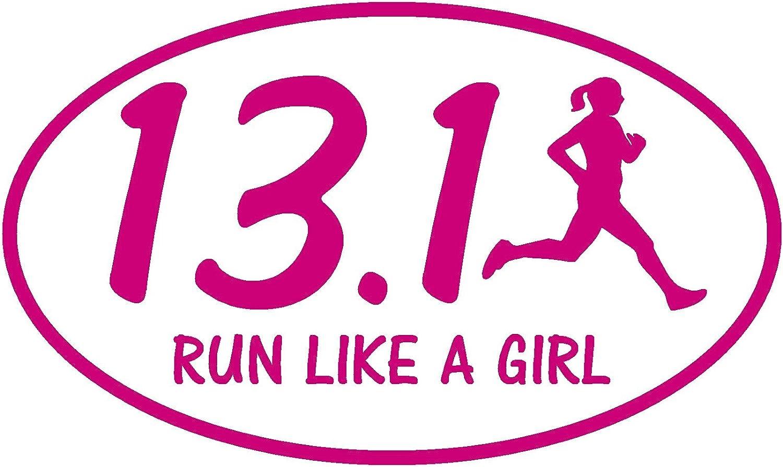 """13.1 Half Marathon Decal Sticker Run Runner 2.5/"""" *NEW"""
