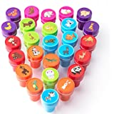 XIAOYAO Toy Stamps 26 Pieces, Childrens Gardening set, Children's Stamp, Self-inking Stampers for Children