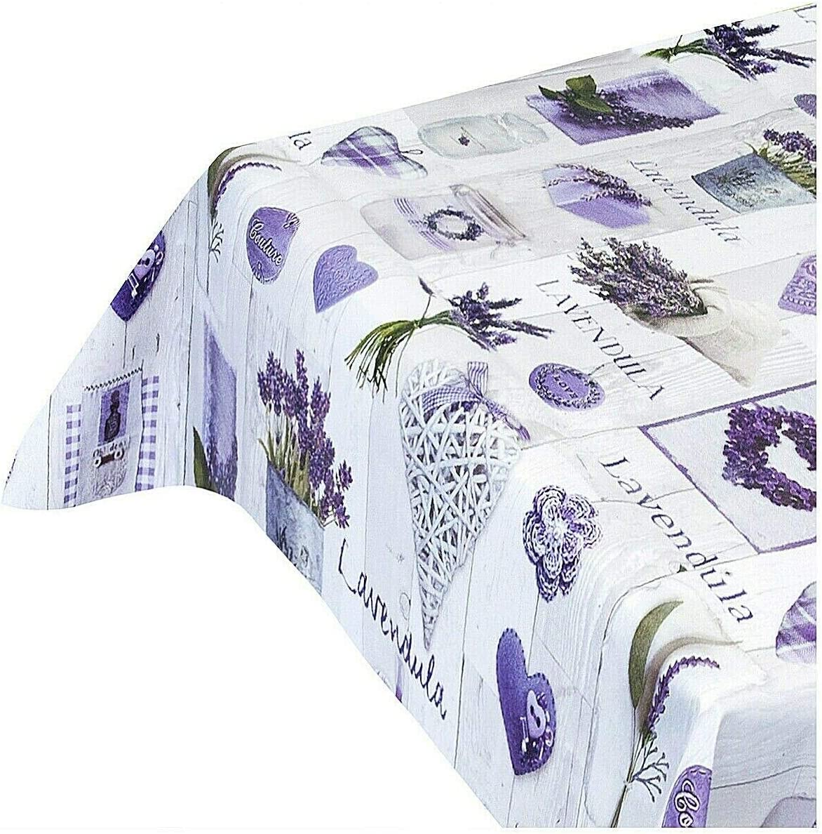 Mantel antimanchas tipo hule de color lavanda, disponible en ...