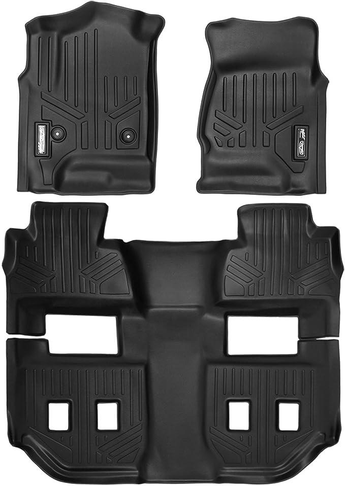 Black CFMBX1BM7140 Nylon Carpet Coverking Custom Fit Front and Rear Floor Mats for Select BMW M6 E63 Models
