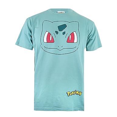 83ac330a Pokemon Men's Bulbasaur Face T-Shirt, (Pale Green), Small: Amazon.co ...