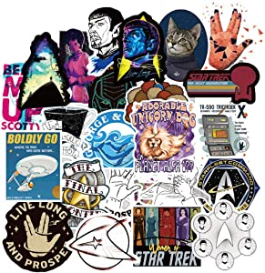 ARPA 70Pcs Star Trek Stickers for Laptops Books Cars Motorcycles Skateboards Bicycles Suitcases Skis Luggage Cup Hydro Flasks etc DXQX