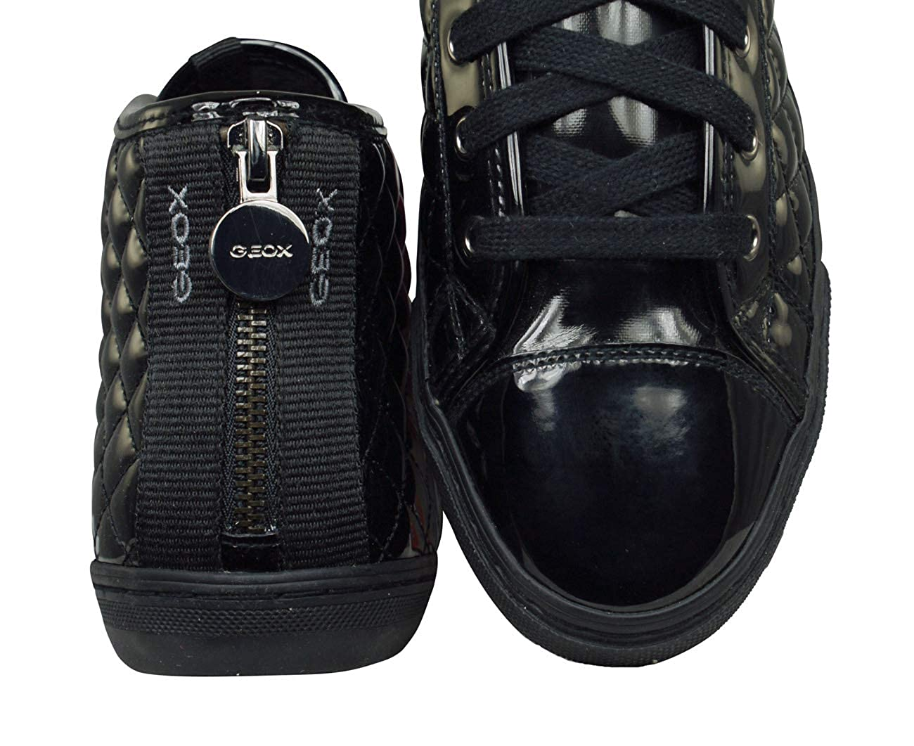 Geox Donna Sneakers Nere D4458D Scarpe in Vernice Inverno