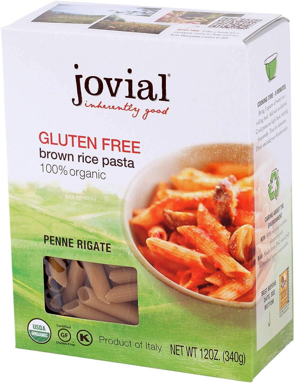 Jovial Brown Rice Pasta Penne Rigate Organic Gluten Free - 12 oz