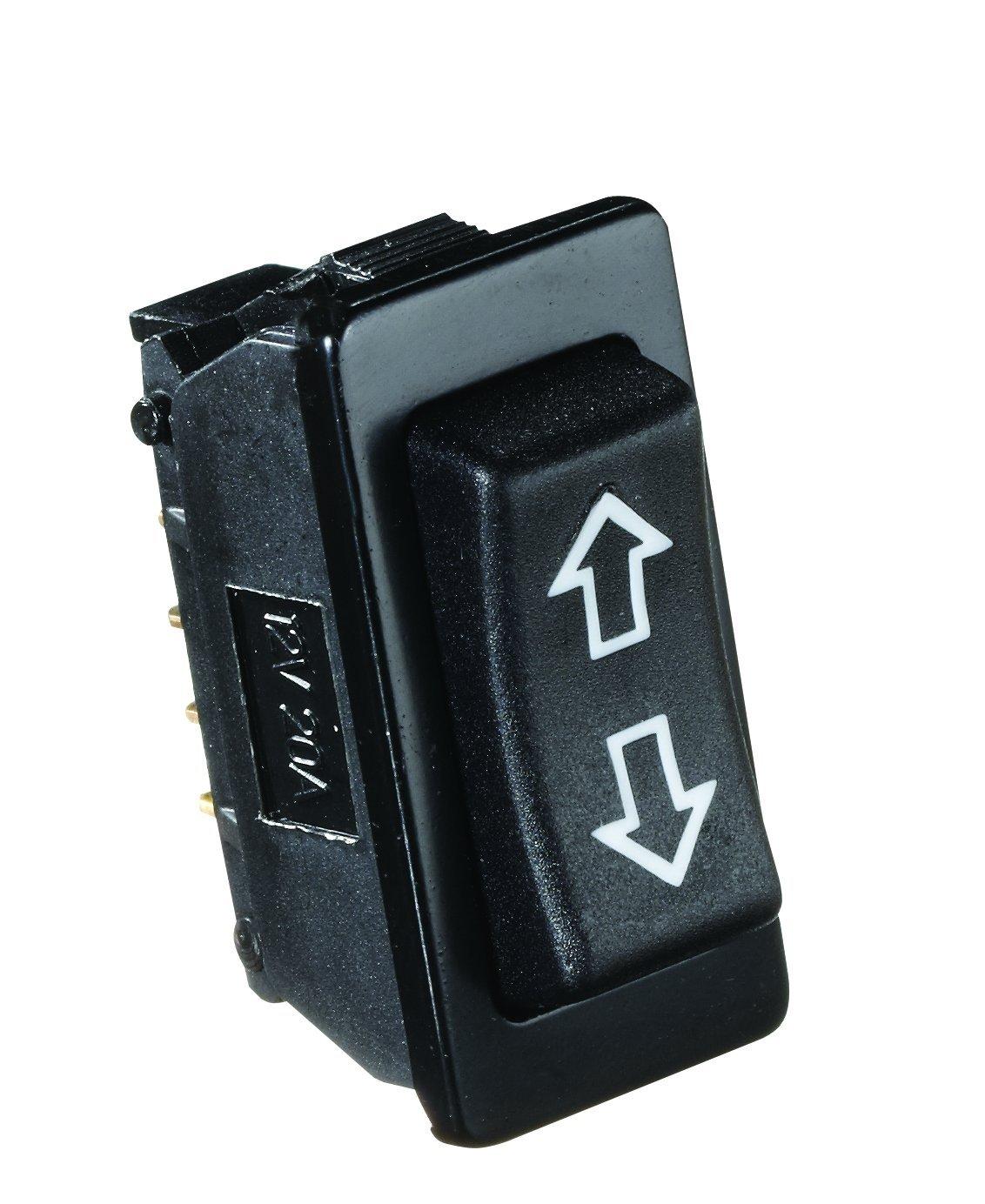 RV Designer S125, Rocker Switch, 20 Amp Continuous, 40 Amp Peak, Black