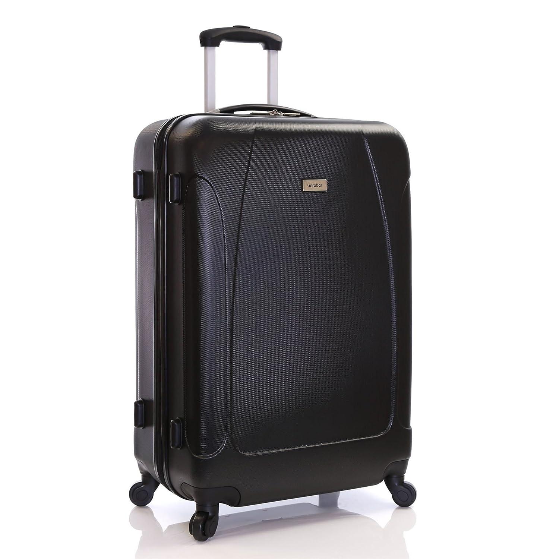 Karabar Valise Rigide Grande Taille XL Bagage 76 cm 4,4 kg 100 liters 4 roulettes Evora Noir