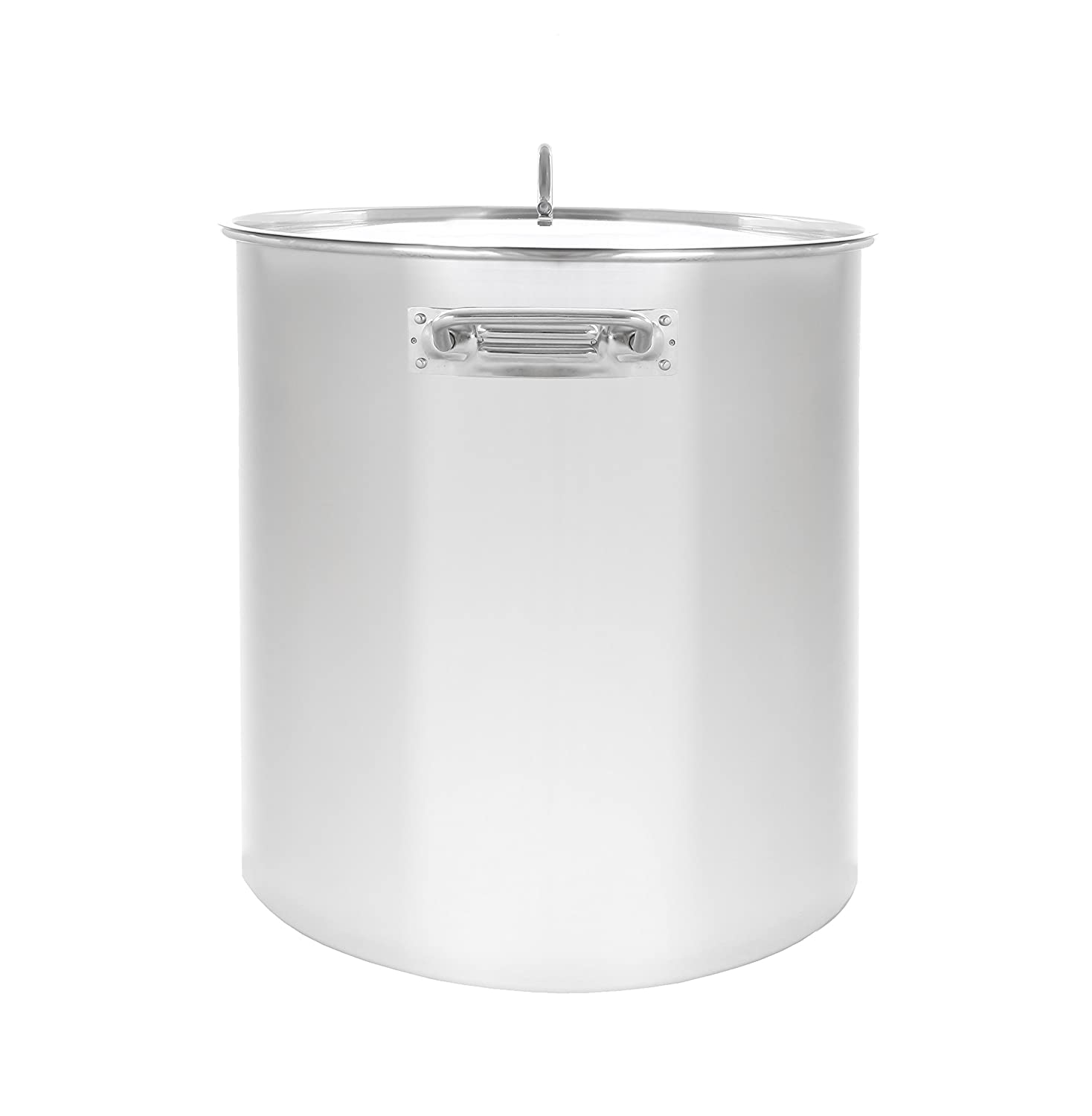 CONCORD Polished Stainless Steel Stock Pot Brewing Beer Kettle Mash Tun w Flat Lid 100 QT