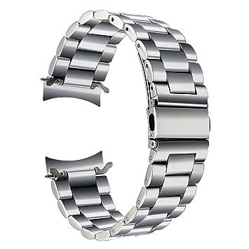 TRUMiRR para Samsung Gear S3 Classic/Frontier Correa de Reloj, 22 mm Pulsera de Repuesto para Correa de Acero Inoxidable Macizo Business Wristband ...