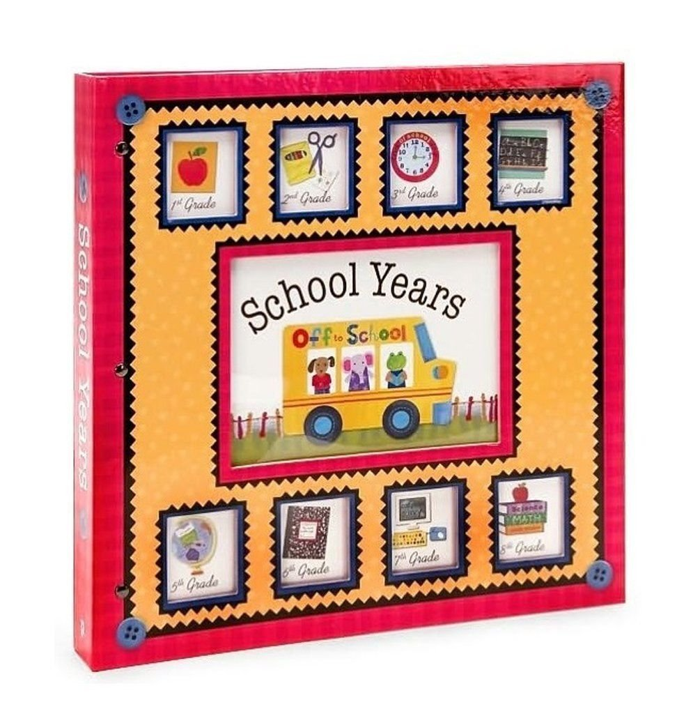 New Seasons School Years Pre-K - 8th Grade Scrapbook Pocket Album Memory Keeper