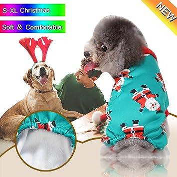Dkings Abrigo de suéter con Chaleco de arnés de Lana para Perro ...