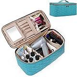 BAGSMART Makeup Bag Cosmetic Bag Large Toiletry Bag Travel Makeup Case Organizer for Women, Teal
