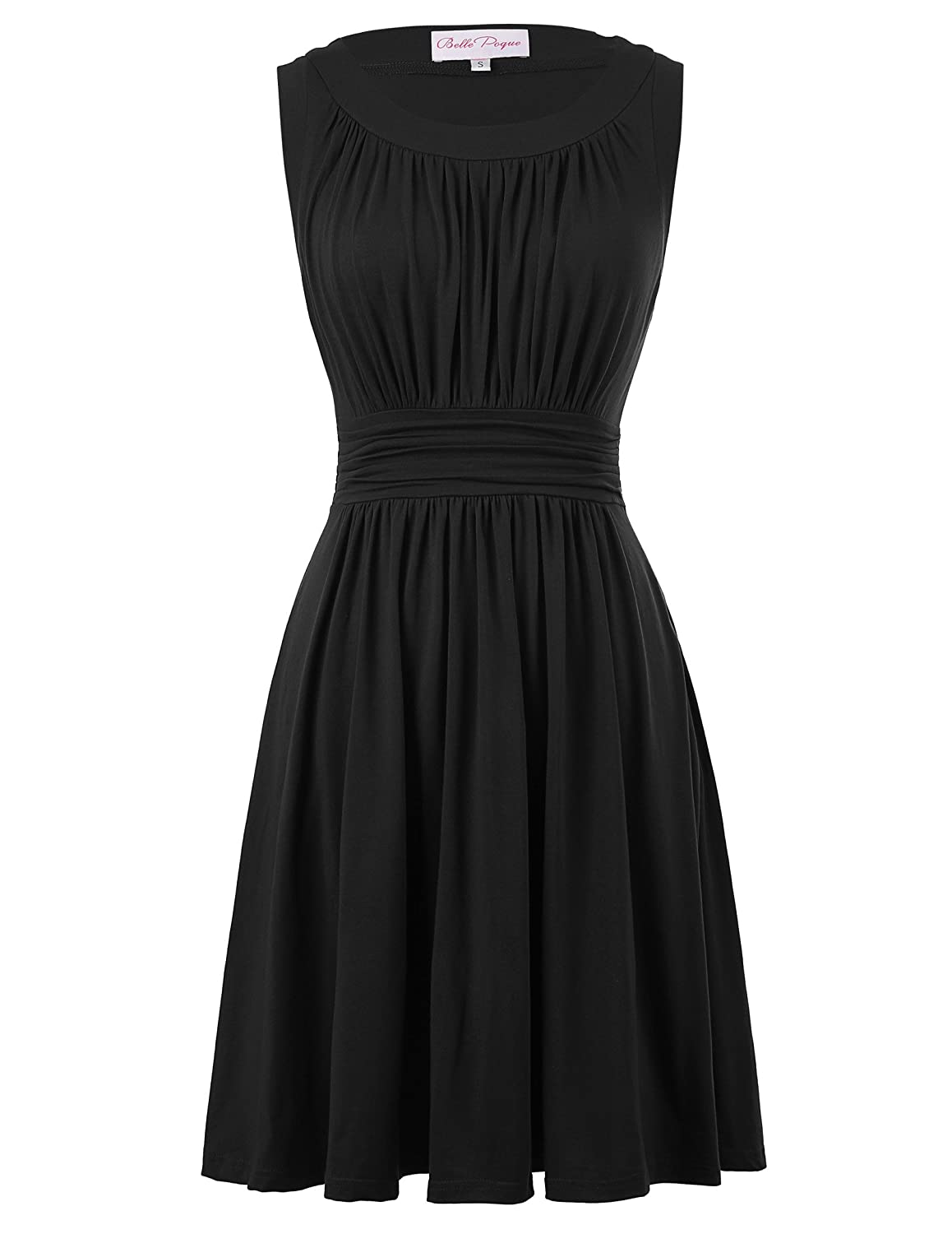 aa075297b03b19 Belle Poque A-Line Women's 1950s Vintage Dress Sleeveless at Amazon Women's  Clothing store: