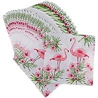 100pcs Flamingo Paper Napkin Serviettes Party Napkin Placemat Paper Face Towels Disposable Flower Serviettes Paper…