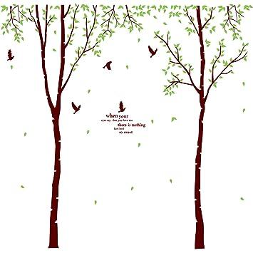 Wandtattoo Wandbild großer Baum mit Vögeln für Wohnzimmer oder ...