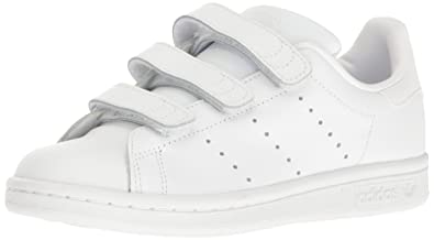 sale retailer 99fc1 f111c adidas Originals Boys  Stan Smith CF J Running Shoe White, 3.5 M US Big