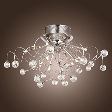 Lightinthebox modern crystal chandelier with 11 lights chrom flush lightinthebox modern crystal chandelier with 11 lights chrom flush mount chandeliers modern ceiling light fixture aloadofball Image collections