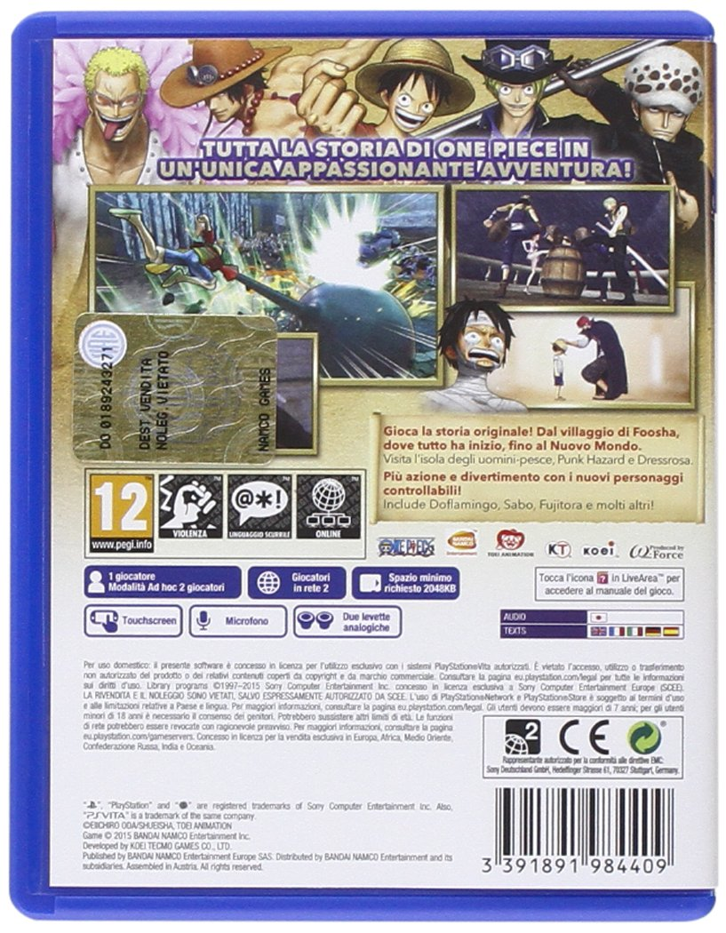 One Piece: Pirate Warriors 3 [Importación Italiana]: sony ...