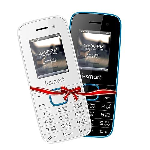 i-smart IS-100L-Selfie-(Blue-Black / White-Blue) Combo | keypad mobile phones| basic mobile phones