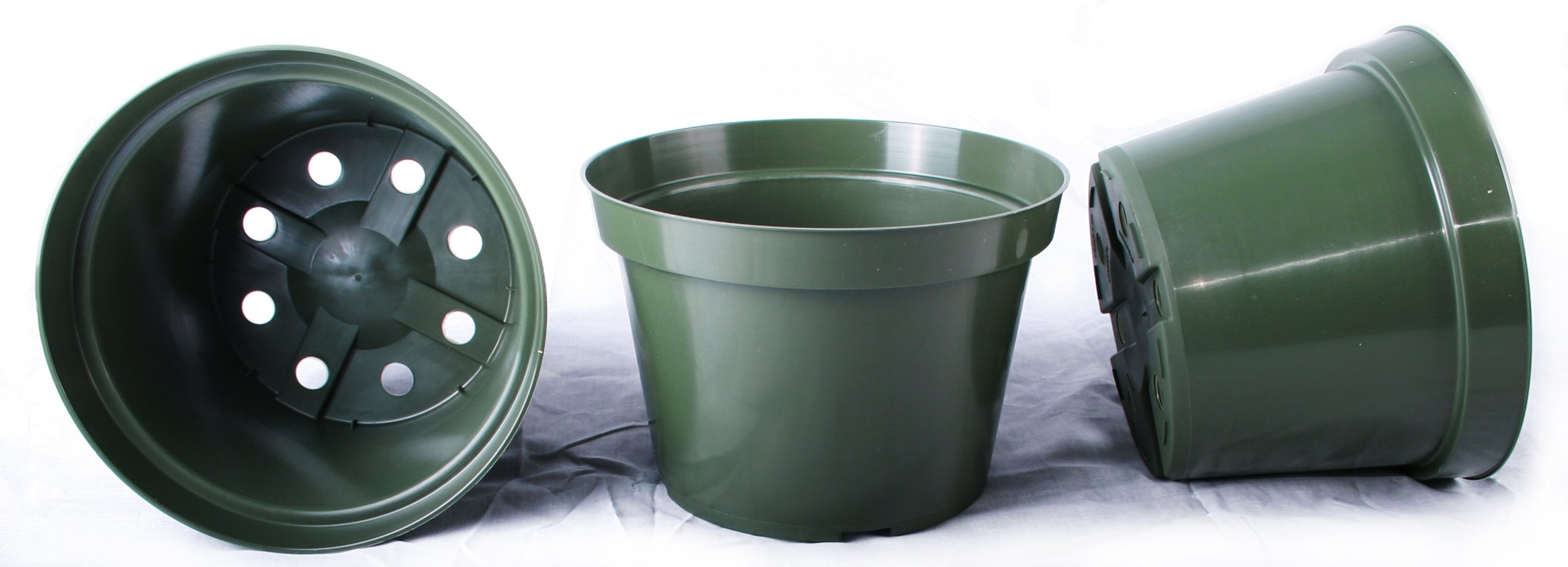 13 NEW 8 Inch Azalea Plastic Nursery Pots ~ Pots ARE 8 Inch Round At the Top and 5.6 Inch Deep. by Azalea
