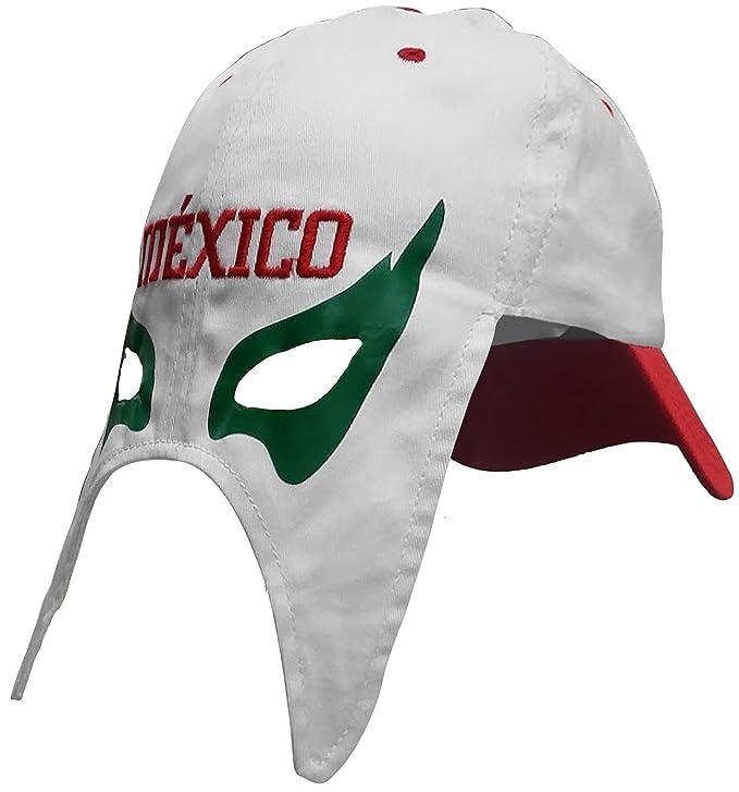 México gorra Mascara de futbol. México fútbol sombrero. mexicano lucha  libre mask Cap 0fbd5d7e5f2