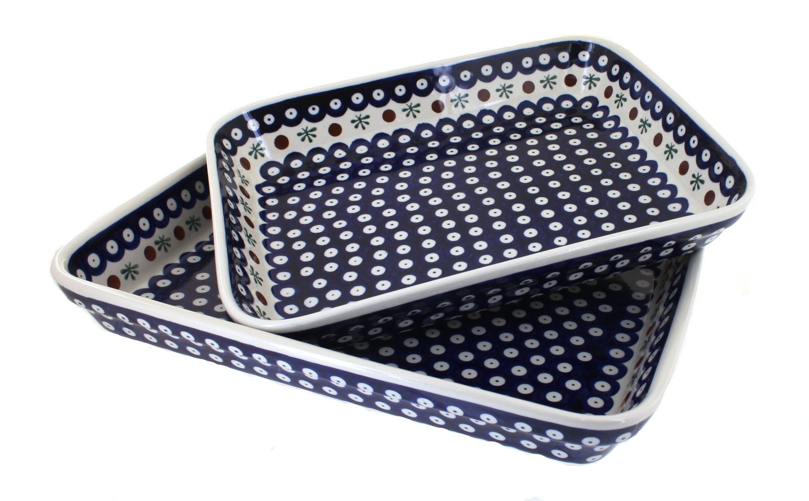 Polish Pottery Nature Rectangular Baker Set