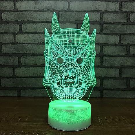 Máscara de Halloween Luces Nocturnas 3d Juguetes para niños ...