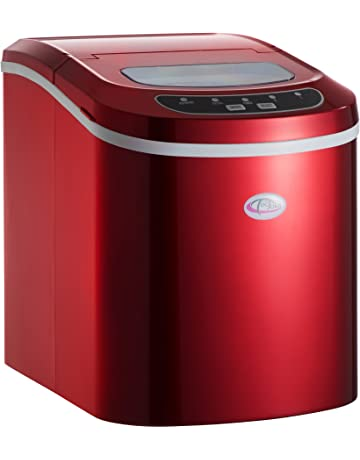 TecTake MÁQUINA DE CUBITOS DISPENSADOR DE CUBITOS PROFESIONAL - disponible en diferentes colores - (Rojo