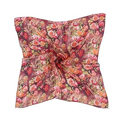 Susenstone Motif Femmes Impression écharpe carrée Head Wrap Kerchief Neck Châle