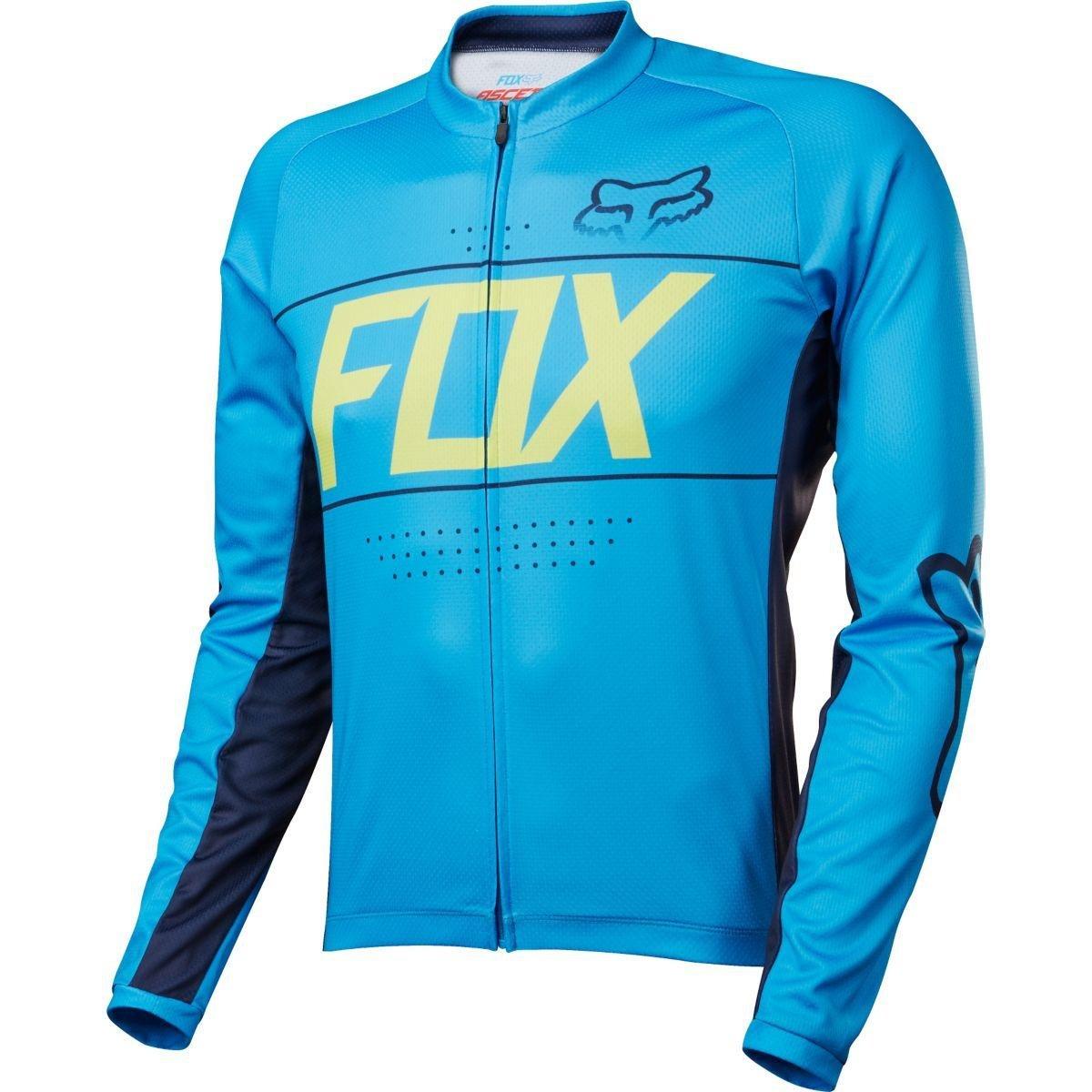 Fox Racing Ascent Long Sleeved Jersey – シアン – 17059 Large シアン B01KUUA2QG