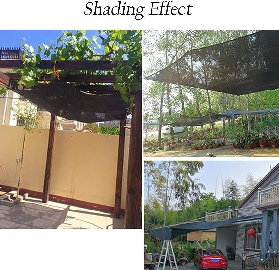HH- Tela de Sombra Tela de la Sombra para el jardín Cubierto ...